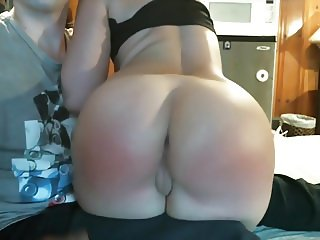 Perfect submissive ass gets spanked