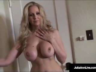 Ultimate MILF Julia Ann is stripping & trying on lingerie!