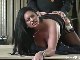 Busty German Mature pays with her body
