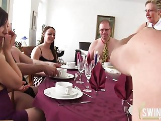 Swinger porn after mealtime
