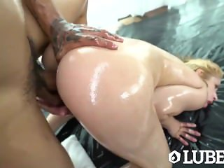 LUBED Slippery big dick fuck with lubed up blonde Goldie Glock