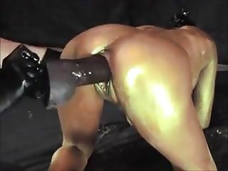 Gold Paint Wife Pussy Training DP