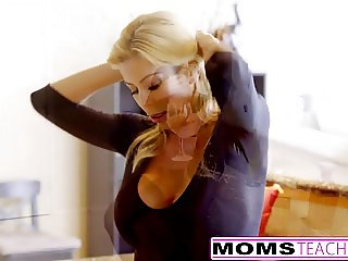 Squirting MILF Gets Creampie From Step-Son