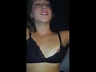 Amateur white girl with boyfriend