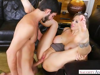 Step mom Julia Ann With young boy