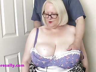 Some lucky man gets to play with Sallys tits