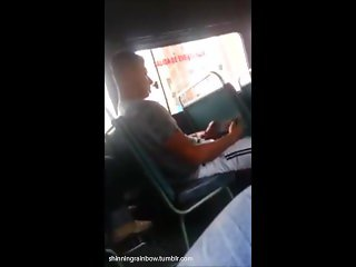 Huge Dick Caught on the Bus