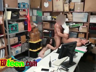 Threesome office fucking with hot sluts