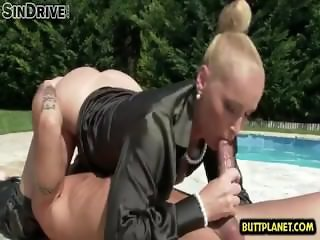 Hot wife assfuck with cumshot