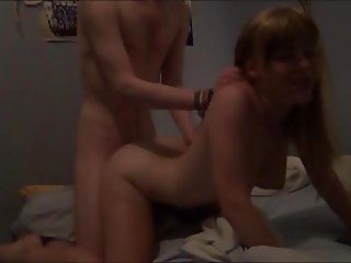 Amateur doing anal scene for cash