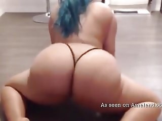 Awesome striptease video from hot chubby GF