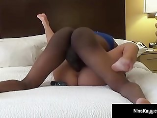 Naughty Nympho Nina Kayy Fucks B Rich's Big Black Cock - 4K!