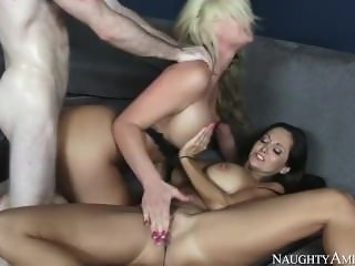 Step mom Ava Addams, Phoenix Marie, Hot Family Threesome with young son
