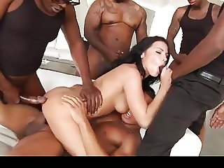Interracial Airtight Gangbang DP