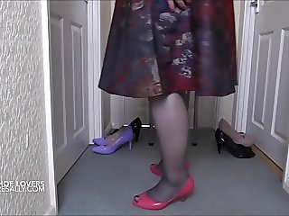 Trying on my shoes