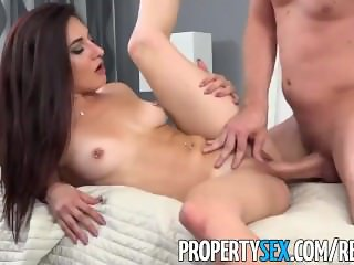 PropertySex - Hot tenant with no money fucks landlord
