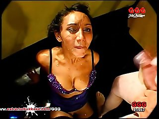 Busty slut teaches her amateur friend how to be a good whore