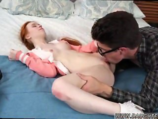 Redhead no money for pizza hot teen gym