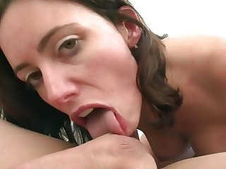 Brunette likes sex in pussy and butt