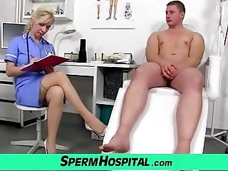 Maya a sexy doctor MILF got hot stockings legs