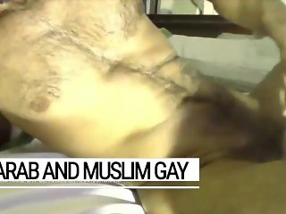 The Saudi sex master: manly Arab stallion, cumming into gay slave's mouth