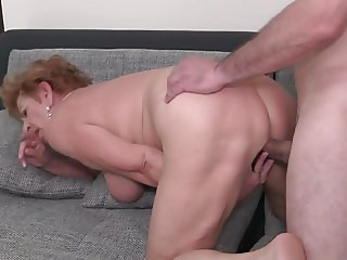 Granny Catalina suck and fuck young big dick
