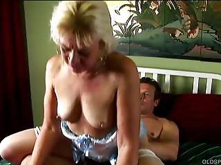 Horny old spunker enjoys a hardcore fucking and a facial