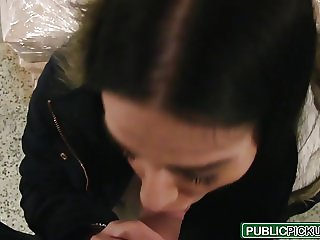 Public Pick Ups - Euro Chick Flashes Ass for Cash starring E