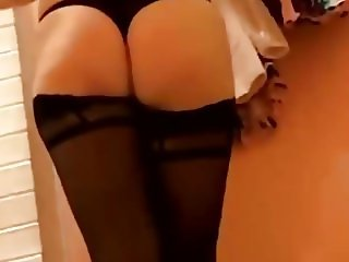 Nice ass and stockings in change room