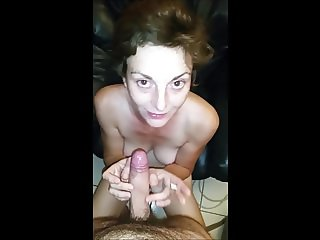 French wife sucks dick and shake her ass