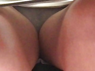 Co-Worker Upskirt, Grey Cotton Panties