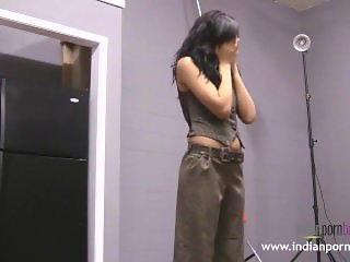 Natasha Indian College Girl Striptease Show