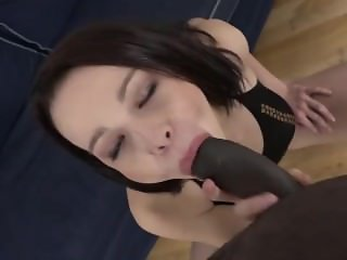 Real Interracial Castings - Teen fucks Black Cock for First Time Licks Cum