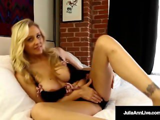 Mega Hot Milf Julia Ann Soaks Her Panties in Pussy Juice!