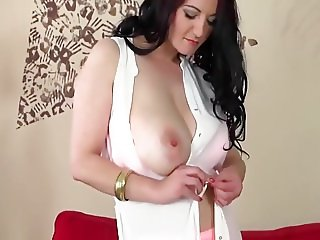 Busty hairy cougar