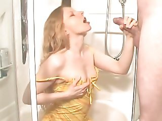 pissing into nice girls mouth