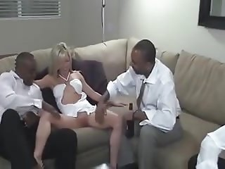 Blonde wife gangbanged and creamed by BBCs