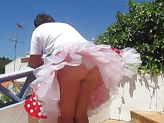 Windy upskirts Teil 18