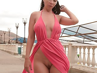 My new red dress for flashing in public