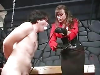 Mistress Cheyenne whipping and canning balls