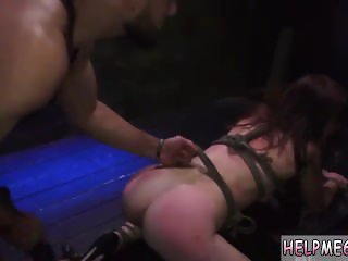 Cuckold husband foot slave tied squirt
