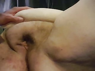 Shaving wifes pussy