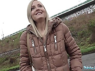 Public Agent Blonde runs from Police after fucking outdoors