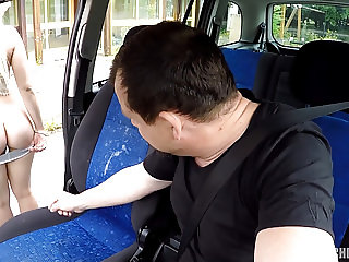 Cute Blonde TEEN Gets Drivers Lesson