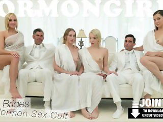 Mormongirlz - Babe chokes on a stranger's huge dick