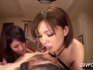 big boobs ladies smother a lucky guy