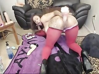 Sexy Latina BIG ASS Anal Dildo Fart and Squirt (1)