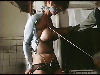 STRUNG UP - vintage bondage breasts bound tight