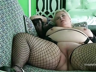 Lying on the sofa for multiple orgasms