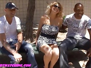 Chubby camel toe big fake titty wife gets pounded hard in fr